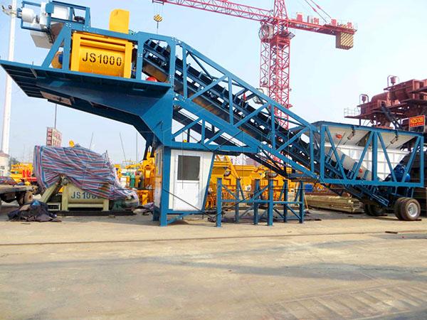 купить мобильный бетонозавод в Китае