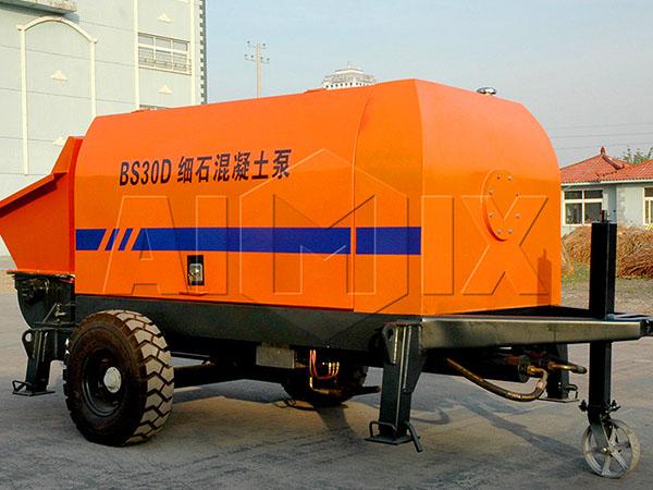 бетононасос стационарный маленький из Китая