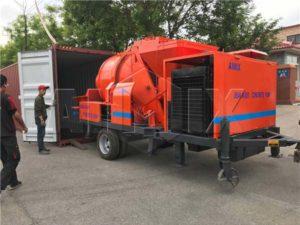 JBS40R дизельная бетономешалка с насосом отправлена в Иорданию