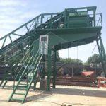 YHZS50 мобильный бетонный завод на шасси был отправлен на Великобританию