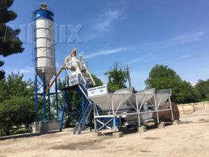 Таджикистан - бетонный завод hzs50 отправлен в Таджикистан
