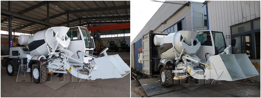 Купить бетоносмеситель с самозагрузкой AIMIX в России и Китае