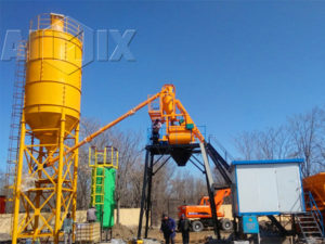 Бетонный завод AIMIX в Узбекистане монтировался