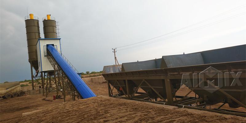 Монтаж бетонного завода в Узбекистане