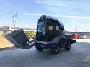 Самозагружаемый бетоносмеситель в Узбекистан отправился