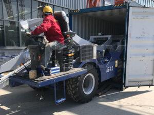 Самоходный бетоносмеситель с самозагрузкой 4 м3