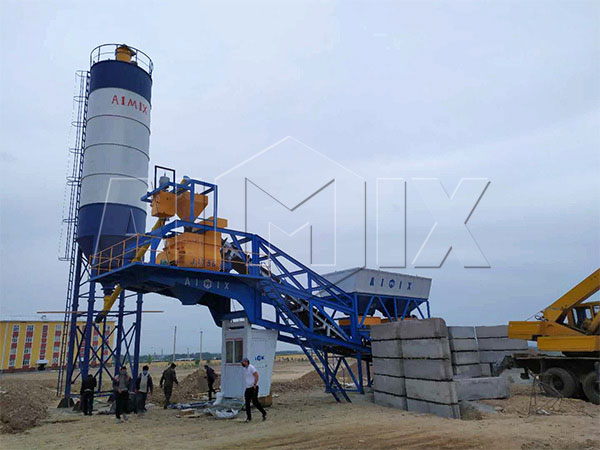 Узбекистан: Мобильный бетонный завод 35 м3/ч