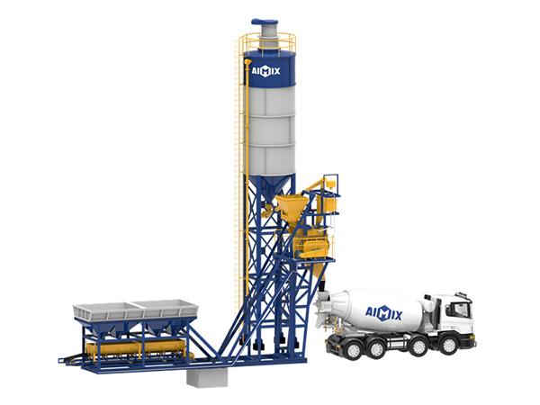 Мини мобильный бетонный завод серии AJM