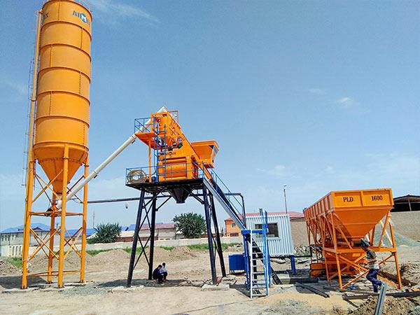 Мини стационарная бетонная установка 35 м3/ч