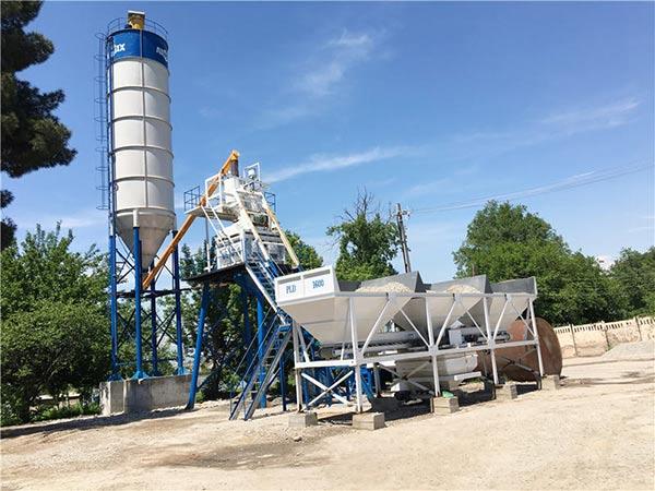 Мини стационарный бетонный завод