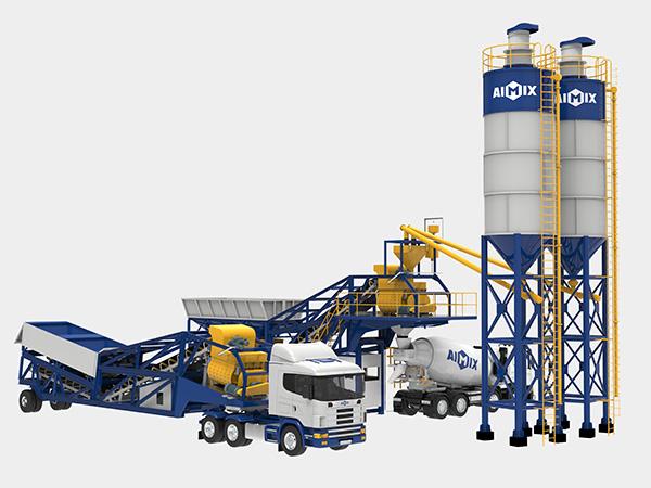 Мобильный бетонный завод на транспорте