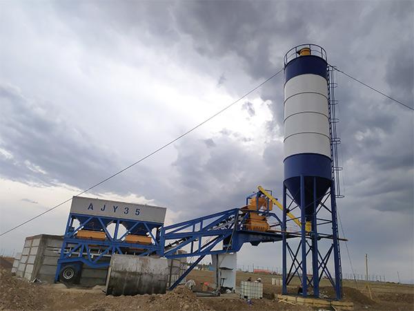 Мобильный бетонный завод в Узбекистане