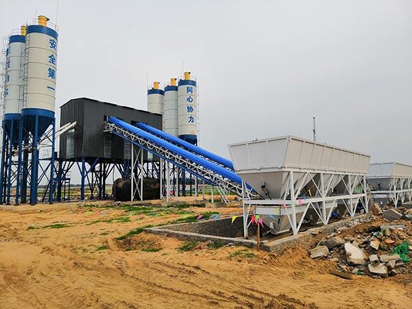 Стационарный бетонный завод 180 м3/ч