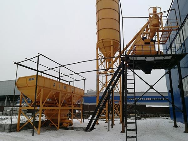 Стационарный бетонный завод в Казахстане