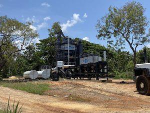 Стационарный асфальтный завод На Шри-Ланке