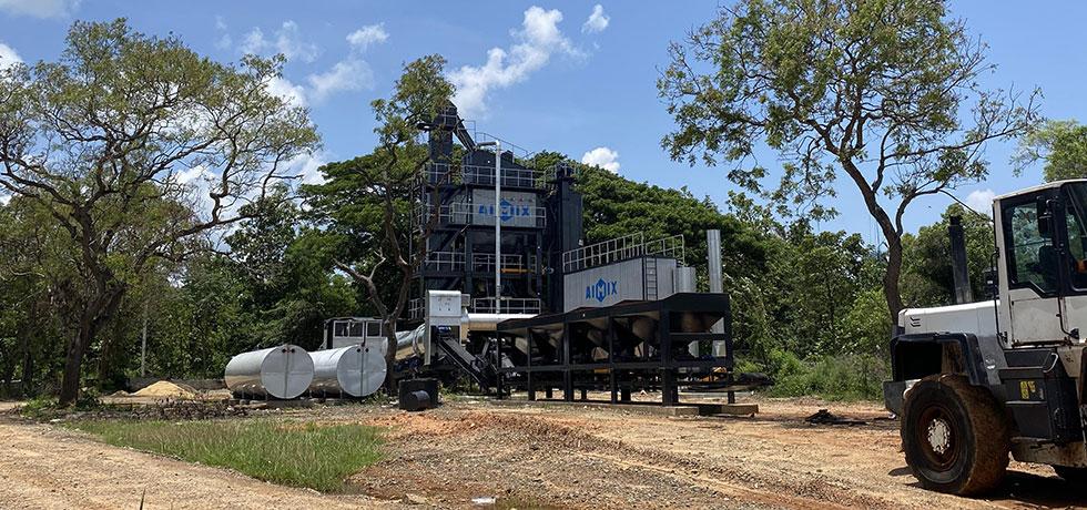 Стационарный асфальтобетонный завод На Шри-Ланке